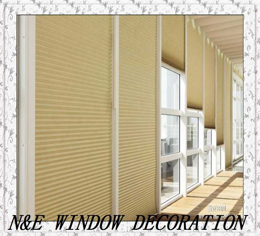 Free shipping customized size high- quality honeycomb blinds  window  blinds 100% blackout roller blinds
