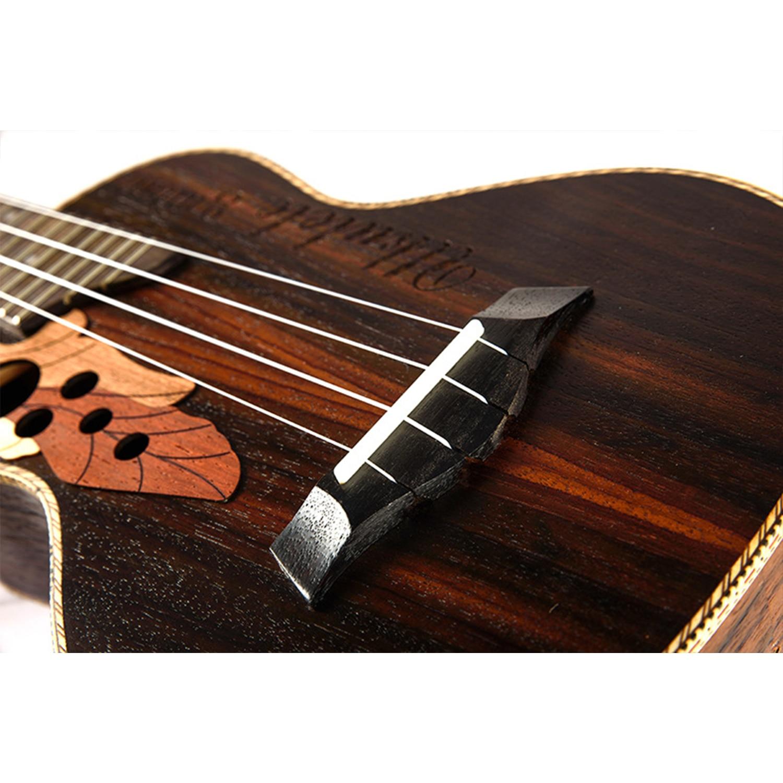 Guitare de voyage ukulélé électrique acoustique ténor de Concert de 23 pouces 4 cordes Guitarra bois acajou Plug-in musique Inst ukelele - 4
