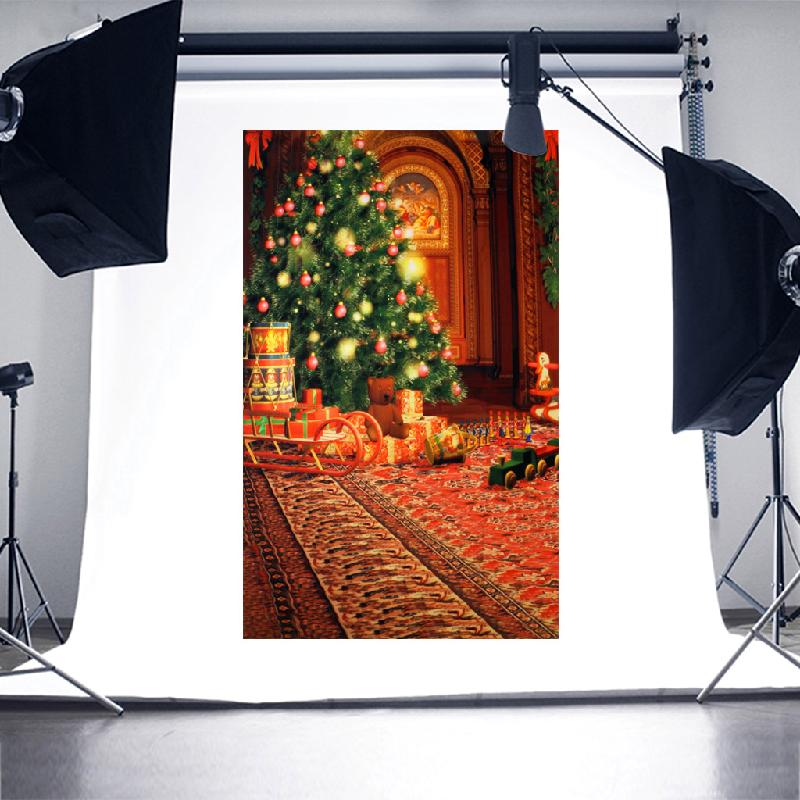 OOTDTY 2017 Xmas Photography Backdrop Photo Props Vinyl Studio Background Christmas 3x5ft christmas background pictures vinyl tree wreath gift window child photocall fairy tale wonderland camera photo studio backdrop