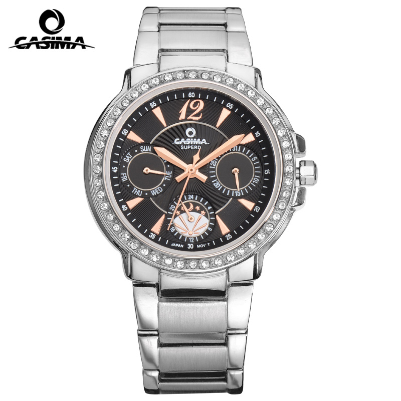 Relogio Feminino CASIMA Luxury Brand Women Watches Fashion Casual Diamond Quartz Wrist Watch Waterproof 50m Ladies Watch Clock silver diamond women watches luxury brand ladies dress watch fashion casual quartz wristwatch relogio feminino