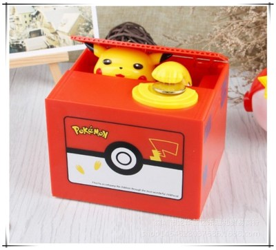 Brand New Pokemon Pikachu Electronic Plastic Money Box Steal Coin Piggy Bank Money Safe Box For Kids Gift Desk Toy funny automatic stole coin bombay cat money box gifts for kids