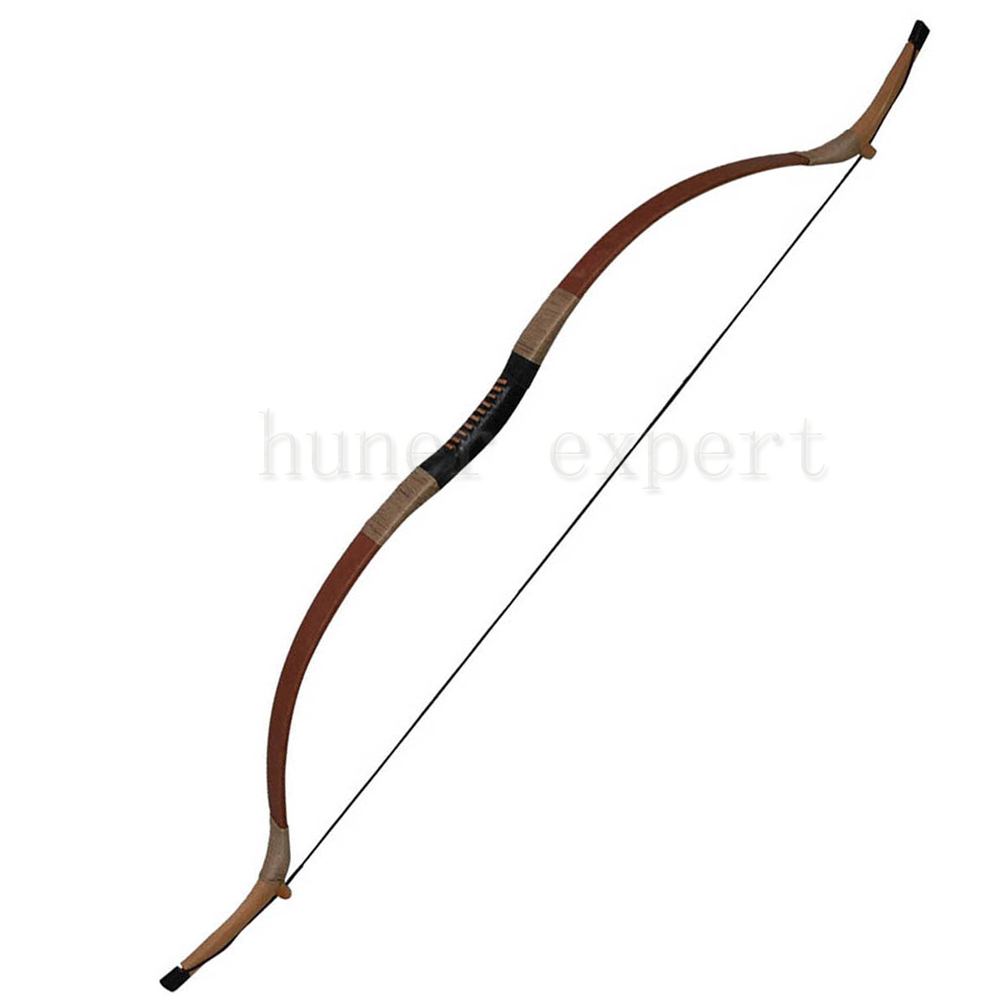 ФОТО A superior brown pig leather facade recurve bow 40lbs 55 inch long for left hand or right hand hunter hunting