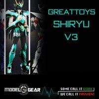 NEW ARRIVAL GREAT TOYS GreatToys GT EX Saint Seiya Shiryu V3 Myth Cloth Action Figure