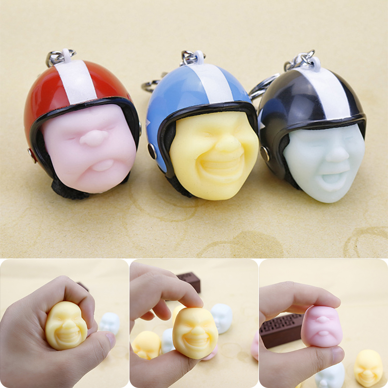 Funny Prank Vent Rising Anti-Stress Stress Relief Reliever Squeeze Toy Keychain