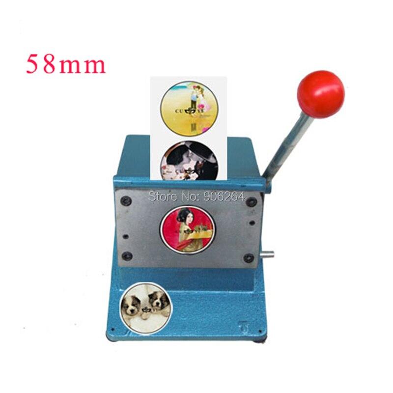 Black Color Round 1 1 4 58mm Badge Machine Cutter Badge Paper Cutting Machine DJ 58