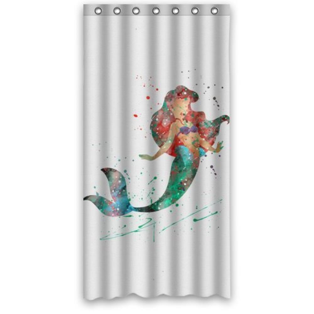 Mermaid shower curtains - Vintage Design New Style Ariel The Little Mermaid Polyester Bathroom Custom Shower Curtain Bathroom Decor Polyester