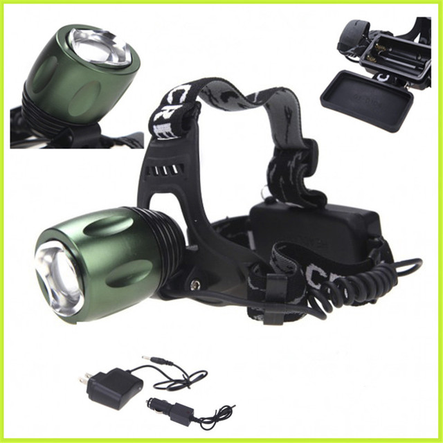 Powerful 2000 Lumen LED Headlight Headlamp CREE XML-T6 4 Modes Head light 18650 Rechargeable Camping Hiking Lamp +AC Charger