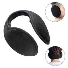2019 Fashion Style Unisex Black Earmuff Winter Ear Muff Wrap Band Warmer Grip Earlap Gift orejeras Men's Earmuffs