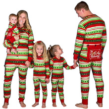 Family Matching Christmas Pajama Mother Daughter Fashion Father Mon Son Parent Kid Xmax Outfit P18070A