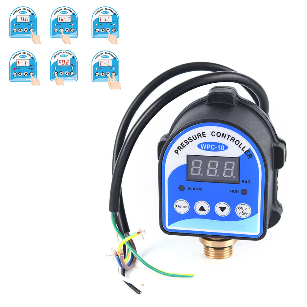 New 1pc Digital Water Pressure Switch Digital Display Eletronic Pressure Controller for Water Pump