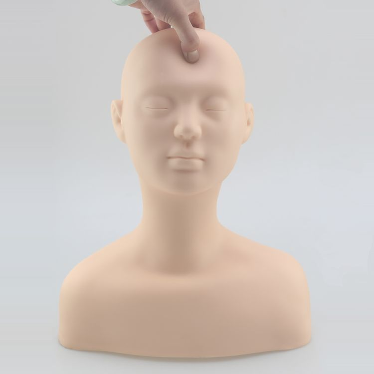 High Quality Silicone Female Cosmetology Mannequin Training Heads,Makeup Mannequin Head,Practice Manikin Head Bust