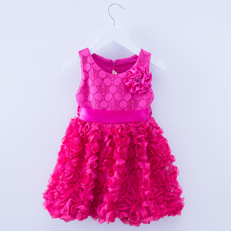 toddler girl clothing 2016 summer solid lace girls princess dresses costume easter - kids love u store