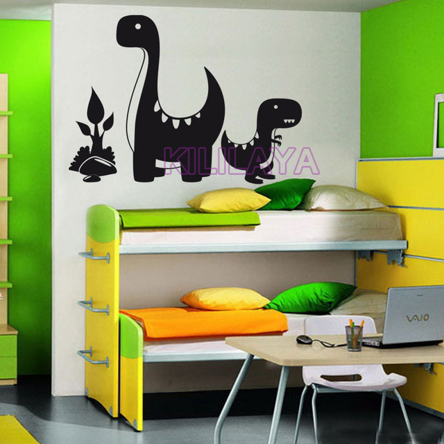 Animals Natural Vinyl Wall Decal Dinosaur Mom and Baby Wall Stickers Home Decor Wallpaper for Children Living Room Nursery Decor