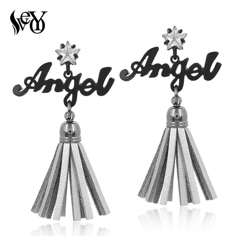 ᐂVEYO Long Gland Boucles D oreilles pour les Femmes Ange Boucles D ... c4ef2402f57