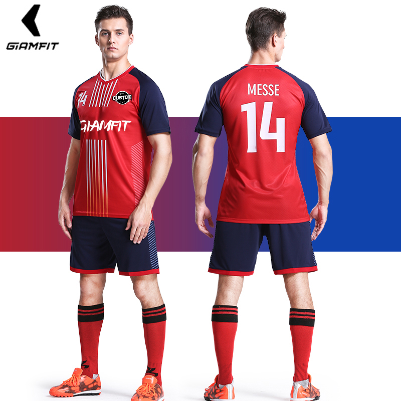 887c1f828 Adult Soccer Jerseys 2019 France Maillot de Football Team Professional  Training Breathable Match Uniforms Short Sleeves