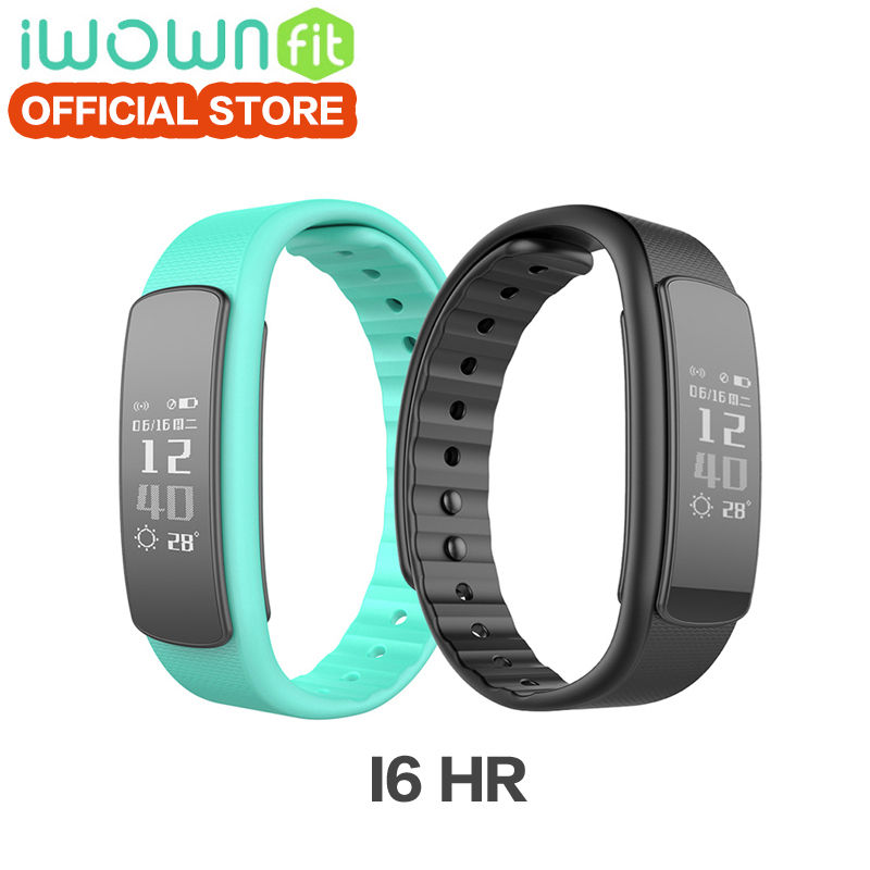 100% original IWOWN I6 HR smartband Pulsmesser Sport Armband Bluetooth 4,0 Smart Band Fitness Tracker für IOS Android