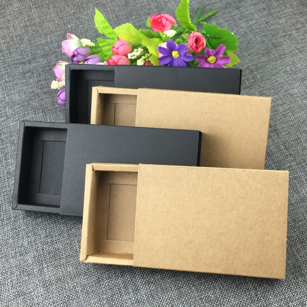 Michaels Brown Favor Boxes : Aliexpress buy pcs brown kraft drawer boxes paper