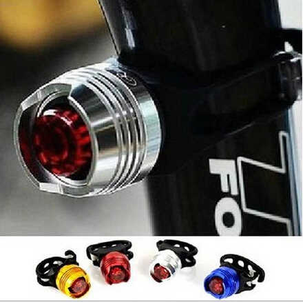 Aluminum LED Bicycle Light Front Rear Tail Helmet Red White Flash Lights Safety Lamp Cycling Safety Caution Light Waterproof