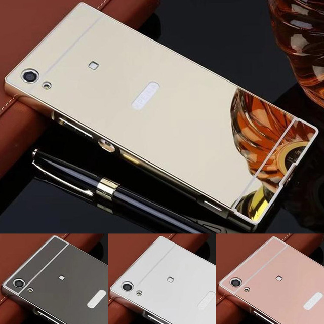new photos 77433 30a56 US $3.99 |For Sony Xperia XA1 case Luxury Aluminum Metal Frame Mirror  Acrylic Back Cover for Sony XA1 G3121 G3123 G3125 G3112 G3116 cover-in  Fitted ...