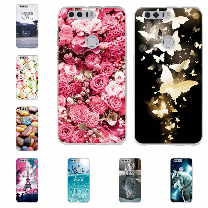 For Huawei Honor 8 Case Cover For Coque Huawei Honor 8 Phone Case Silicone Soft TPU Cute Anime Cover Funda For Huawei Honor8 Bag
