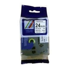 5 шт./лот 24 мм 8 м черный на белом совместимость brother tze ленты для р сенсорным этикетки ленты чайник цзы 251 tze-251 tze251