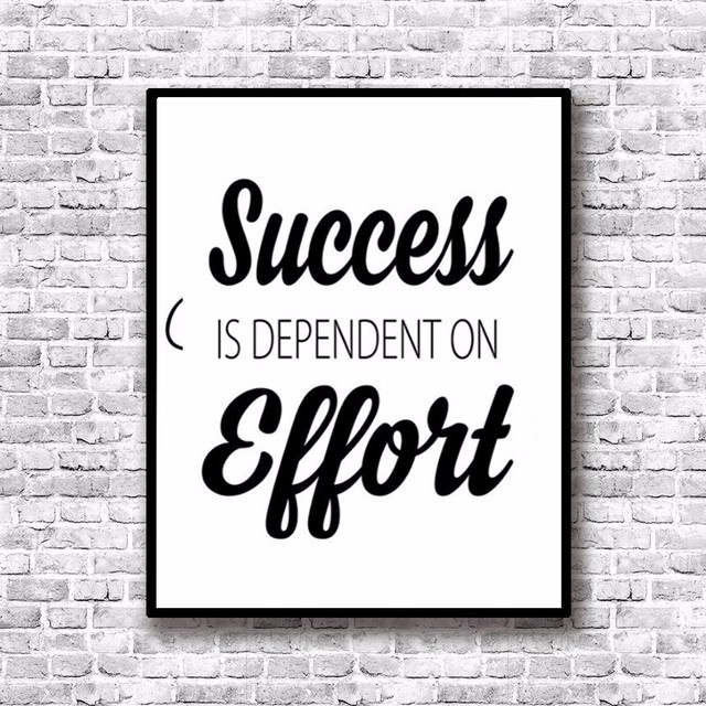 Us 7 99 Success Inspiring Quotes Painting By Numbers Canvas Art Posters And Prints Paintings For Living Room Bedroom Wall Decor No Frame In Painting