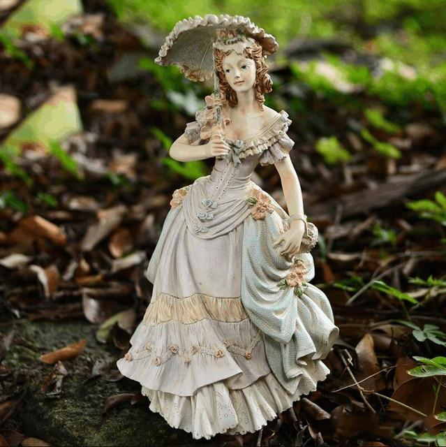 تمثال المراة الاوروبية الفيكتورية ديكور و اكسسوارات
