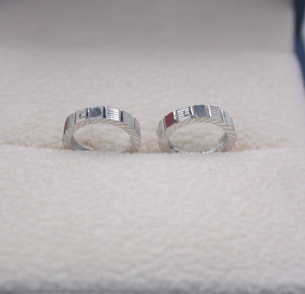 Solide 18 K or blanc boucles d'oreilles ensemble AU750 sculpté carré femmes cadeau mignon boucles d'oreilles 1.6-1.9g bijoux de tous les jours meilleur cadeau - 4