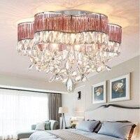 Современные crystal LED потолочные светильники из нержавеющей стали K9 кристалл лампы столовая гостиная спальня Крытый потолочные светильники