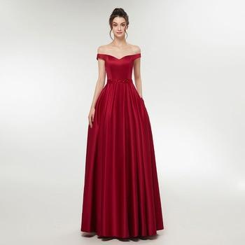 Simple Wine Red Evening Dress Ladies Women Dresses Off Shoulder Long Prom #dress #fashion #boygrl