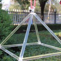 Dia 6 Clear Crystal Pyramid For Sound Healing