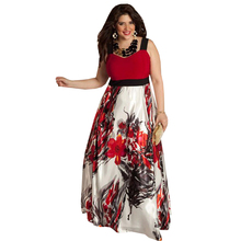 XXL-6XL Large Size Autumn Women Floral Flower Print Dress Plus Size Dress Plus Size Women Clothing Big Size XXXL XXXXL XXXXXL