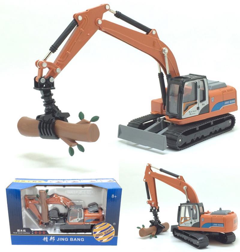 1: 60 legierung Verfolgt engineering fahrzeuge, hohe simulation Holz grabbing maschine, sammlung modell spielzeug vehicel, freies verschiffen