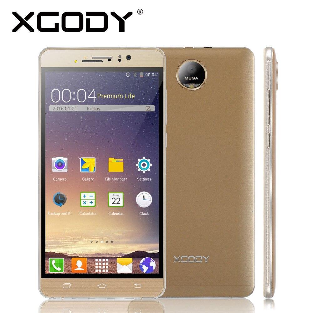 Xgody smartphone 2g/3g quad core 512 mb ram 8 gb rom dual sim tarjetas de 6.0 Pu