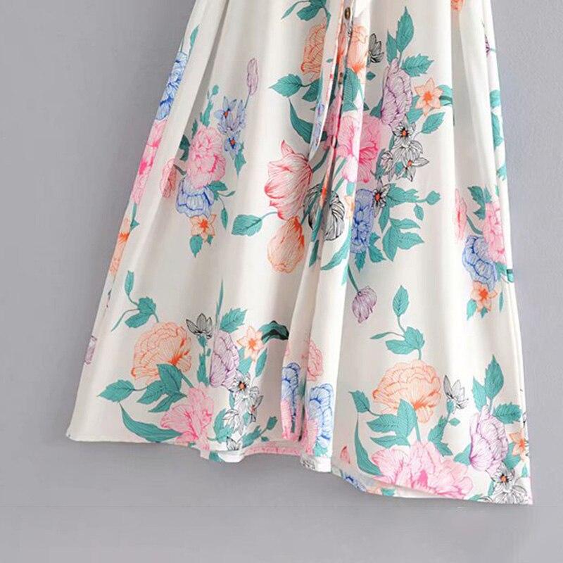Summer Women V Neck Bow Dress Elegant Women Casual Short Sleeve Printed Floral Bohomian Dress A Line Slim Sundress in Dresses from Women 39 s Clothing