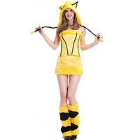 New Arrival Anime Cute Pikachu Cosplay Halloween Costume Performance Cosplay Costume Exotic Clothes Hot Sale Y1235H1774117