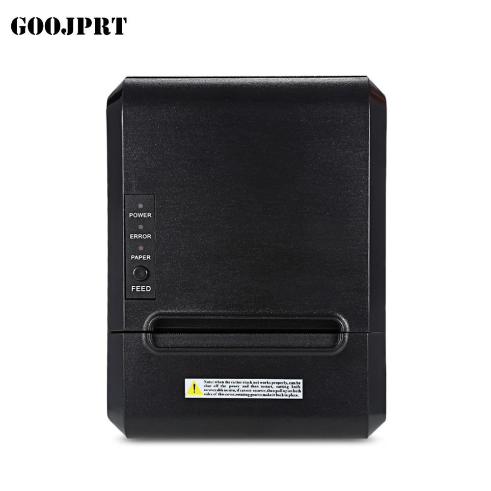 POS printer High quality 300mm/s 80mm thermal printer Kitchen printer Auto Cutter printer with USB+Serial / Lan /bluetooth print goojprt mtp 3 portable 80mm bluetooth thermal printer exquisite lightweight design eu plug support android pos multi language