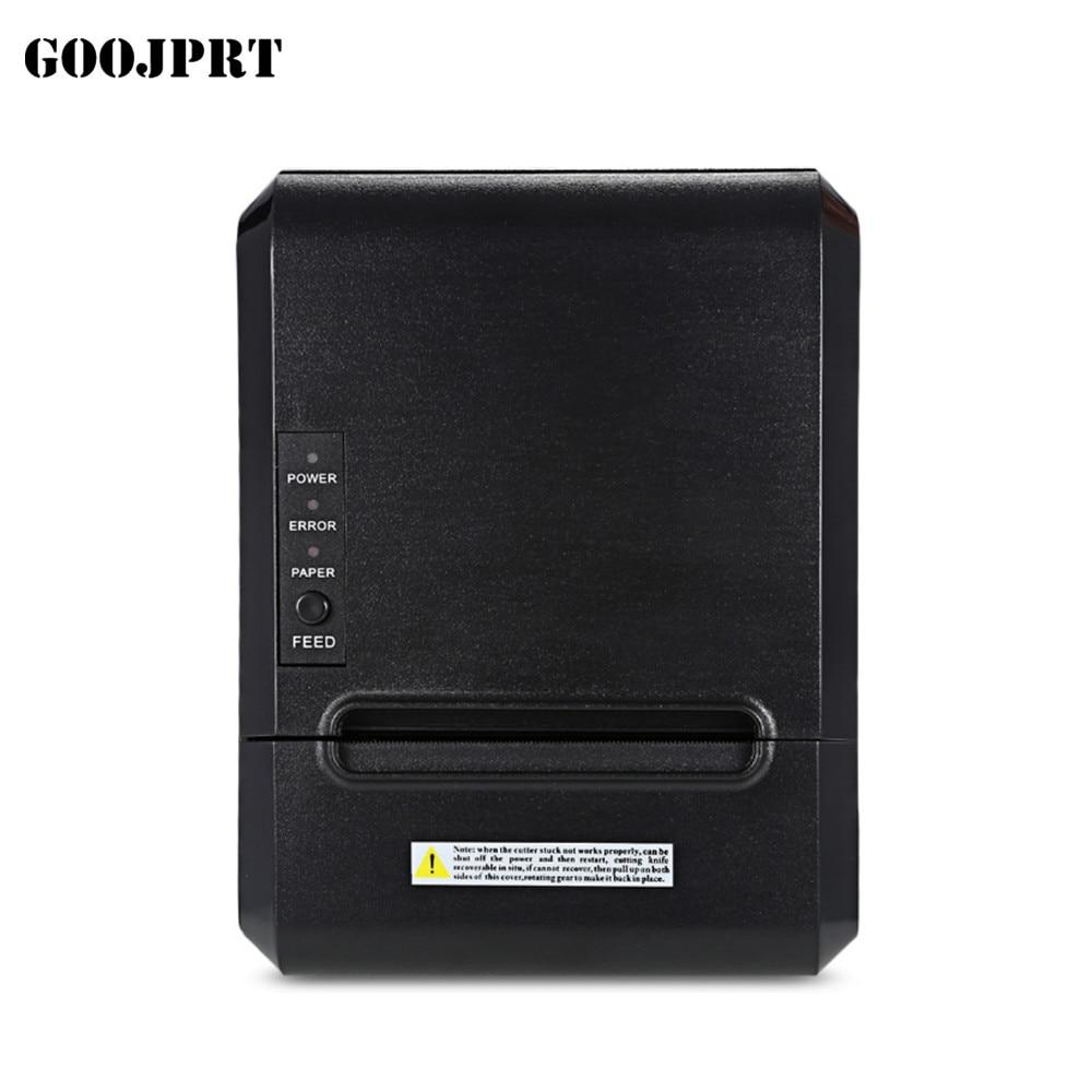 POS printer High quality 300mm/s 80mm thermal printer Kitchen printer Auto Cutter printer with USB+Serial / Lan /bluetooth print