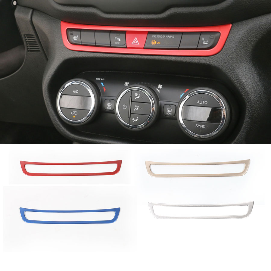 Car-Styling Emergency Wraning Light Switch Button Frame Lamp Trim Interior Stickers Aluminum For Jeep Renegade Free Shipping New 2pcs 12v 31mm 36mm 39mm 41mm canbus led auto festoon light error free interior doom lamp car styling for volvo bmw audi benz