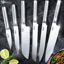 купить Kitchen Knife Chef Slicing Bread Santoku Utility Paring Stainless Steel Knives 8 7 5 3.5 inch High carbon 5Cr15 Cooking Tool по цене 500.91 рублей