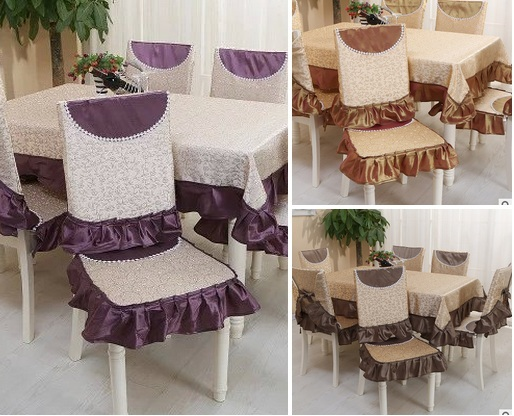 Household Furniture Sets Lace Tablecloth Chair Set Modern Minimalist Flower  Lotus Chair Pad Wholesale