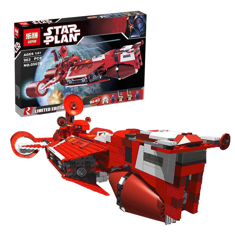 Lepin 05070 963Pcs New Star War Series The Republic Cruiser Set Children Educational Building Blocks Bricks Toys Model Gift 7665 new lepin 16042 pirate ship series building blocks the slient mary set children educational bricks toys model gift with 71042