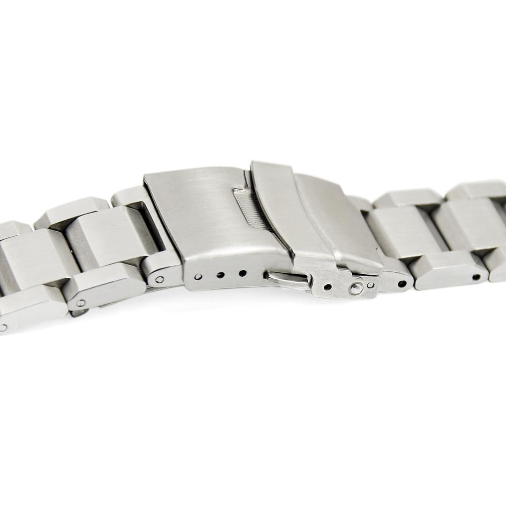 ZLIMSN Gümüş Bilezik Katı Paslanmaz Çelik Kordonlu Saat 18 20 22 - Saat Aksesuarları - Fotoğraf 2