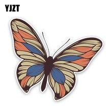 Yjzt 14.5cm12.8cm interessante dos desenhos animados borboleta colorido pvc de alta qualidade etiqueta do carro decoração gráfico C1-5102