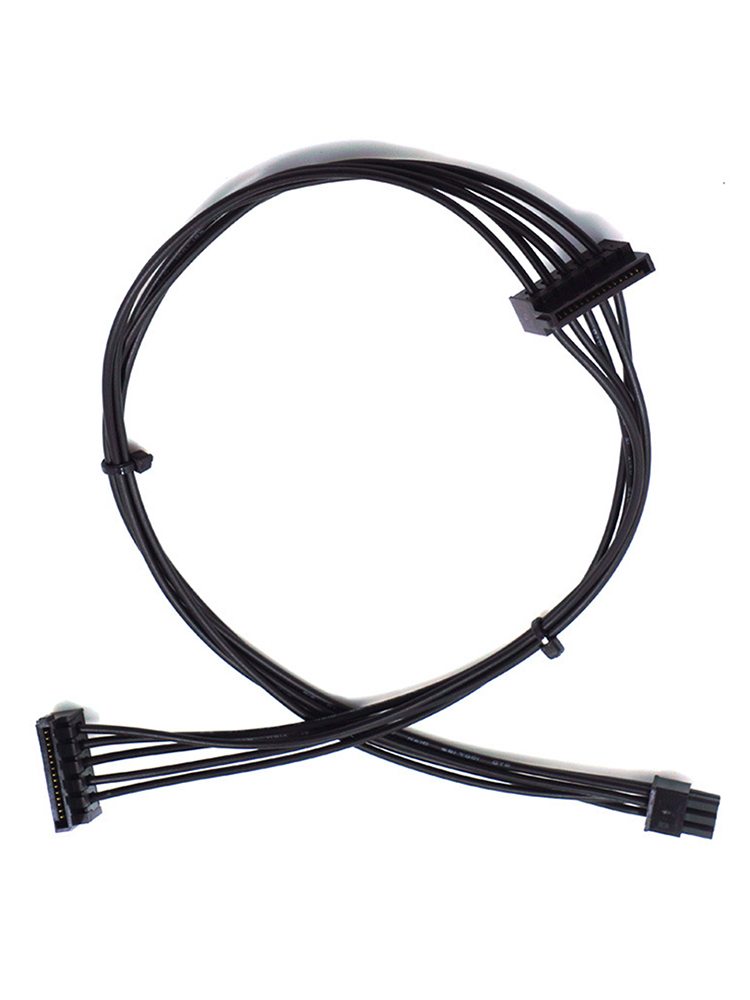New Mini <font><b>6</b></font> <font><b>Pin</b></font> to 2 <font><b>SATA</b></font> 15PIn <font><b>Power</b></font> Supply <font><b>Cable</b></font> for Dell 3250 3268 3650 3653 3660 3667 3668 image