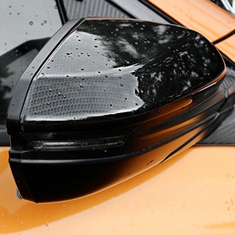 O Envio gratuito de Alta qualidade da Fibra do Carbono Do Motor Automóvel Carro Tampa Do Espelho Retrovisor Para Honda Civic 2017