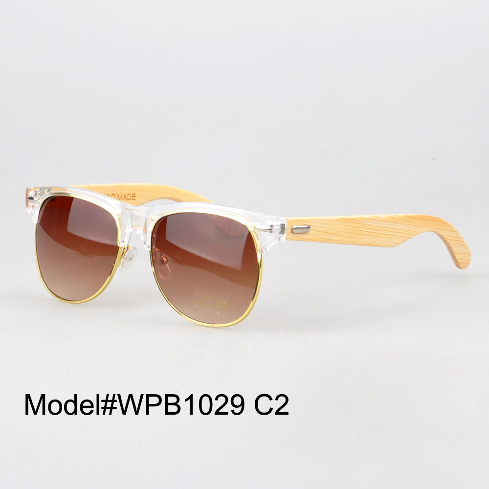 font b New b font design Free shipping WP1029 UVA UVB bamboo sunglasses for woman
