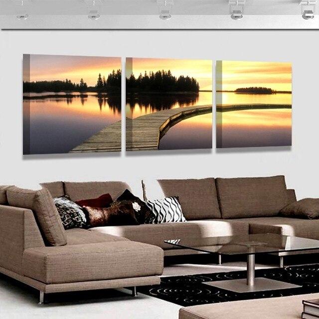 Искусство восход солнца на море Главная Обстановка декоративные картины на холсте гостиной холст картины модульная фото НЕТ кадров