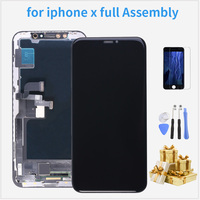 LCD for iPhone X Display Touch Screen Sensor Panel Digitizer Assembly AMOLED for iPhone X LCD 5.8 for Phone Replacement + gift