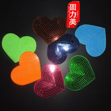 5pc Love pink gold purple Red Heart Iron On Patch iron On Embroidered Applique Patch Clothes Stickers DIY Apparel Accessories(China)